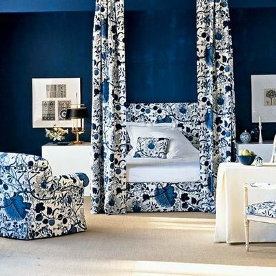 beautiful blue and white bedrooms - Blue And White Bedroom Designs