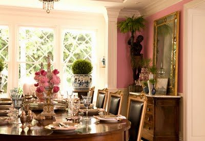 14 Romantic Pink Dining Rooms