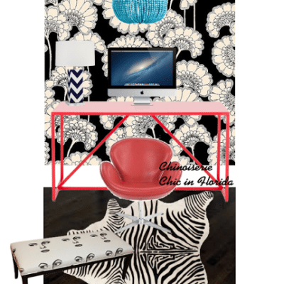 Chinoiserie Chic in Florida: The Home Office