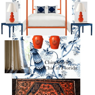 Chinoiserie Chic in Florida: Guest Bedroom