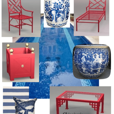Chinoiserie Chic in Florida: The Backyard