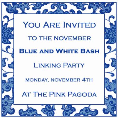November Blue and White Bash at The Pink Pagoda