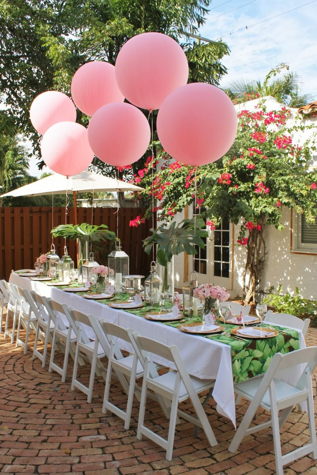 palm beach chic baby shower by luxe report designs the glam pad