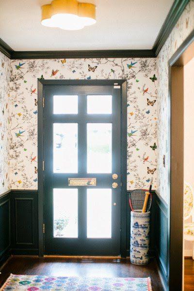Foyer Wallpaper List : A beverly hills hotel inspired bathroom by bailey