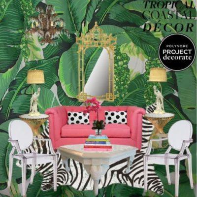Tropical Coastal Decor: Polyvore's Project Decorate