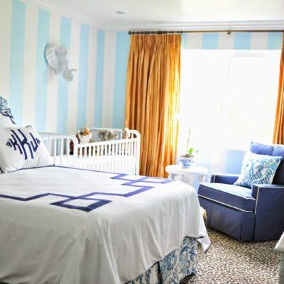 One Room Challenge: Palm Beach Regency Nursery Reveal
