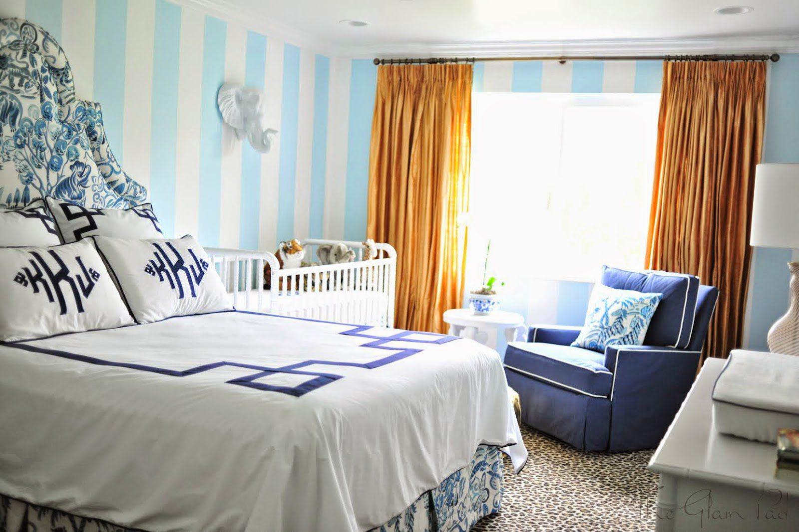 From Junk Room To Beautiful Bedroom The Big Reveal: One Room Challenge: Palm Beach Regency Nursery Reveal