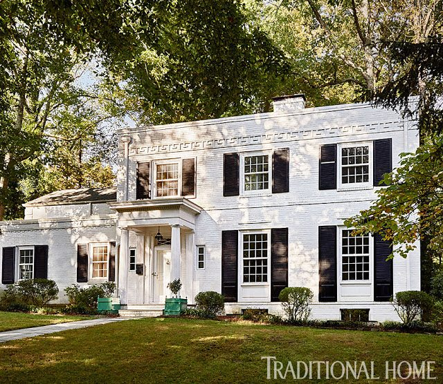 Mad for madcap cottage the glam pad for Brick traditional homes