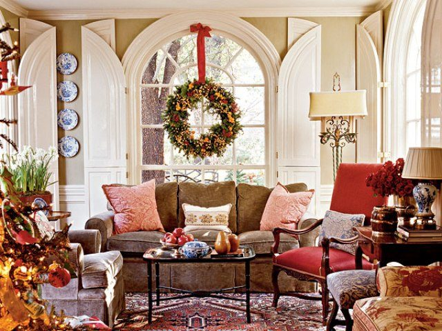 A southern accents christmas the glam pad - Living room traditional decorating ideas ...