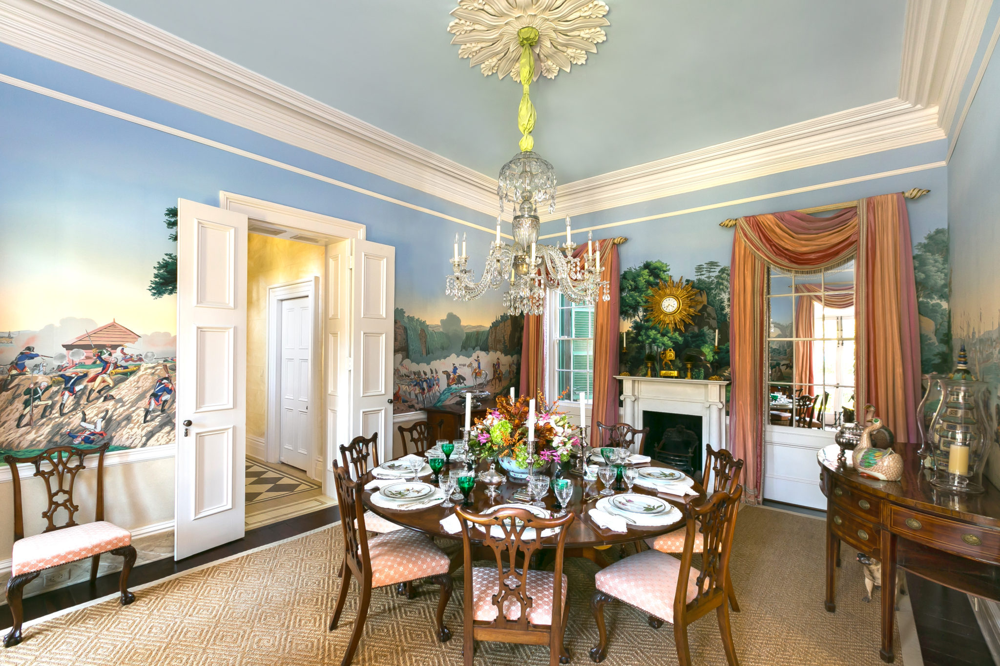 Isaac-Jenkins-Mikell-House_Patricia_Altschul_zuber-sceens-of-north Winter Wonderland Home Dining Rooms Interior Design Html on