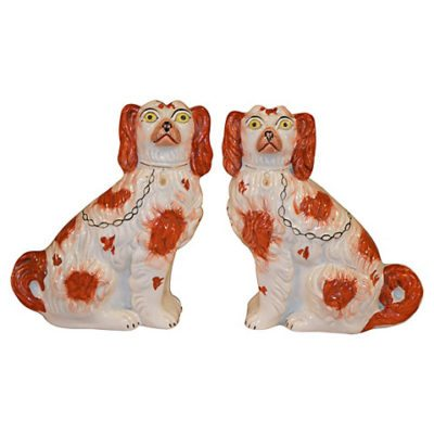 Antique Staffordshire Dogs