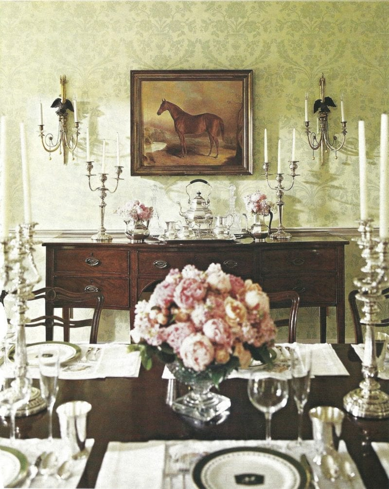 Traditional equestrian art the glam pad for Traditional dining room pinterest