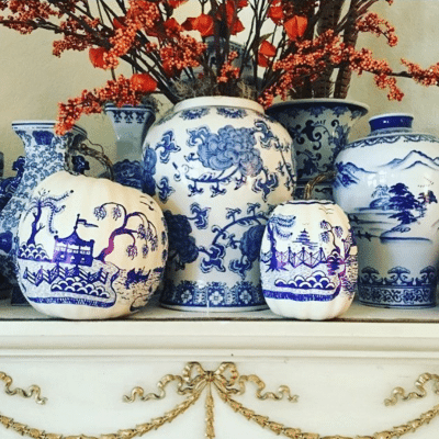 Chinoiserie Pumpkins and Accents