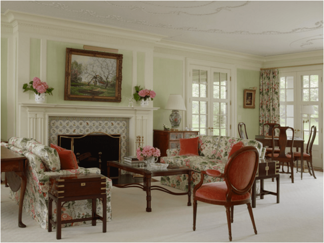 A Carefully Restored Connecticut Colonial Revival The