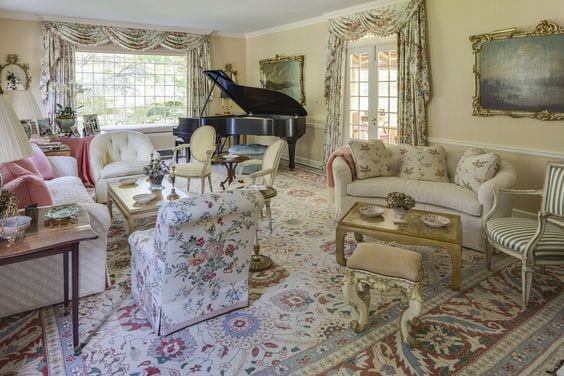 chintz-floral-formal-living-room-baby-grand-piano
