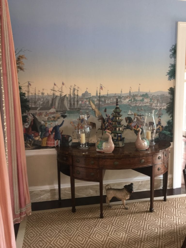 isaac-jenkins-mikell-house-luzanne-otte-carriage-properties-after-mario-buatta-patricia-altschul-architectural-digest-zuber-pug-revolutionary-war-sisal-carpet