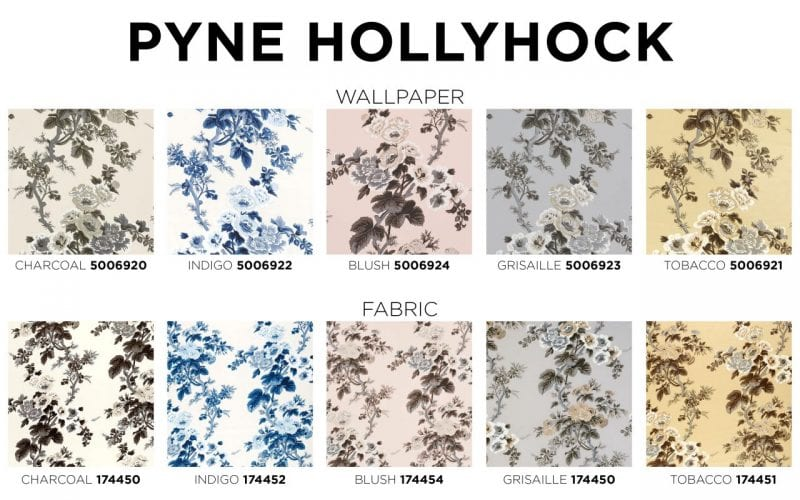 Schumacher Pyne Hollyhock Colorways
