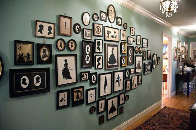 gallery-wall-of-silhouettes