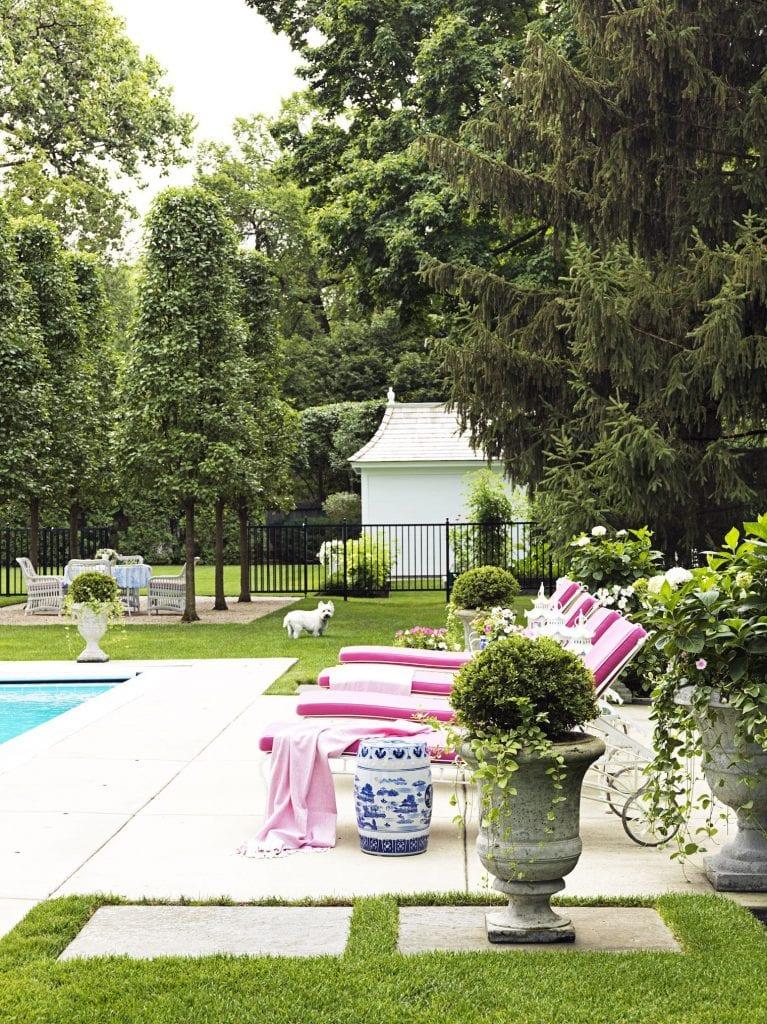 sunbrella-fabric-chaise-poolside-westie-david-adler-garden-stool-blue-white-chinoiserie