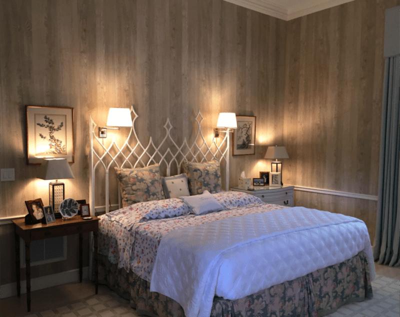 Nobilis Chene wallpaper pecky cypress porthault linens