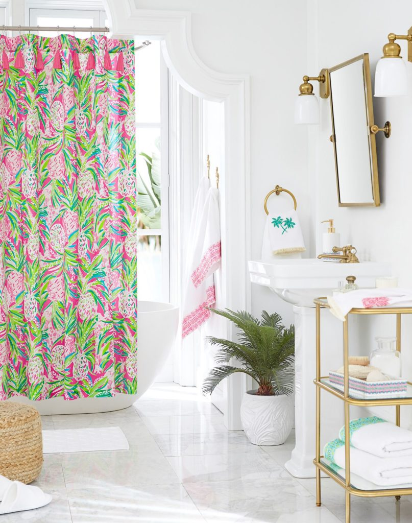 Lilly Pulitzer Pottery Barn Shower, Lilly Pulitzer Bathroom