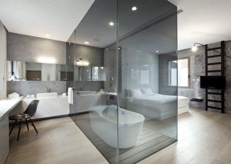 Open Concept Bathroom Bedroom, Open Concept Bathroom