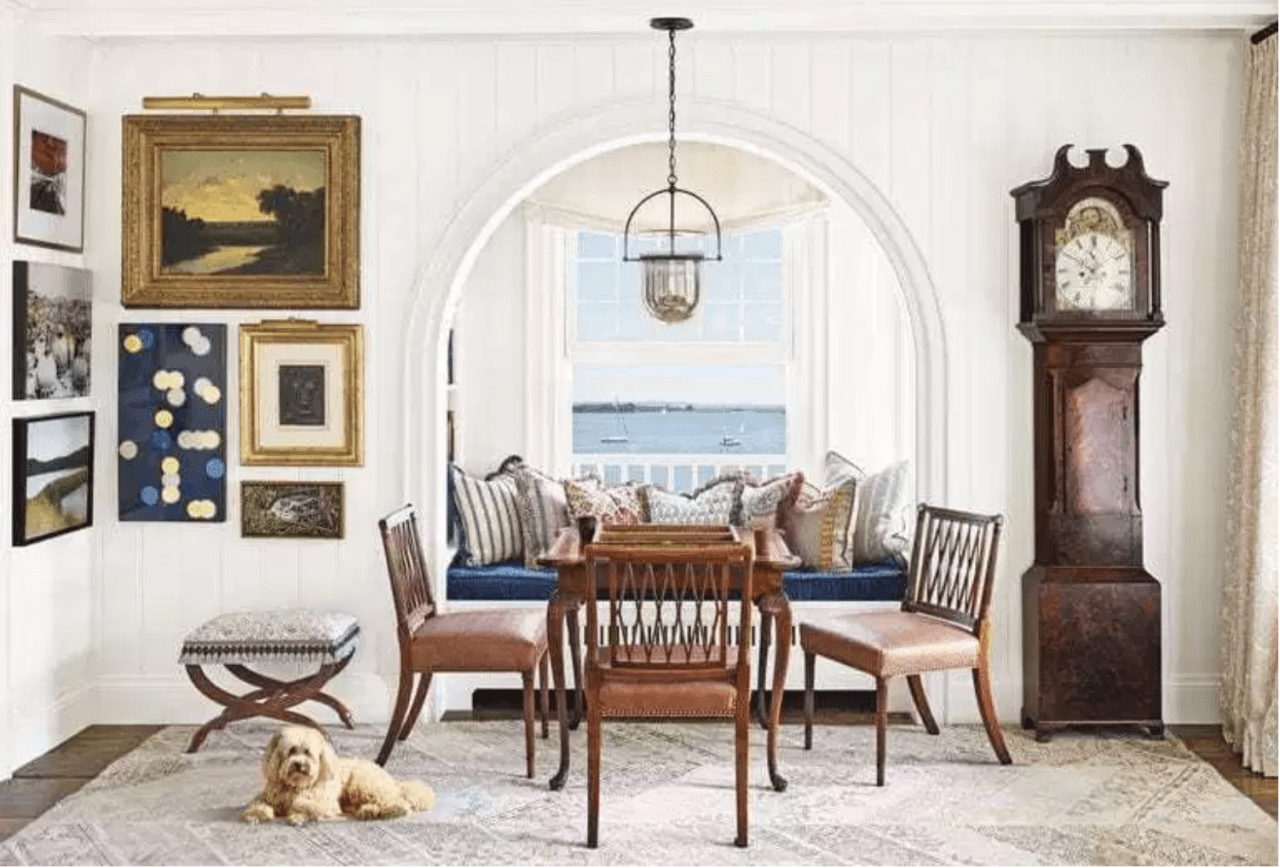 Formal Dining Table Setting Ideas, Philip Mitchell Seaside Cottage Interior Design The Glam Pad