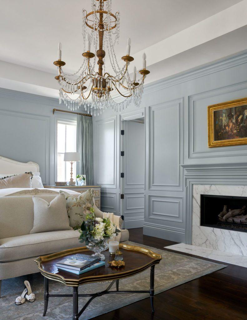 Barclay Butera Newport Beach Traditional Home master bedroom blue ...