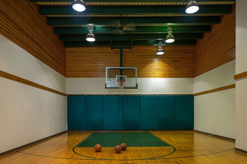 Basketball Court Indoor The Glam Pad