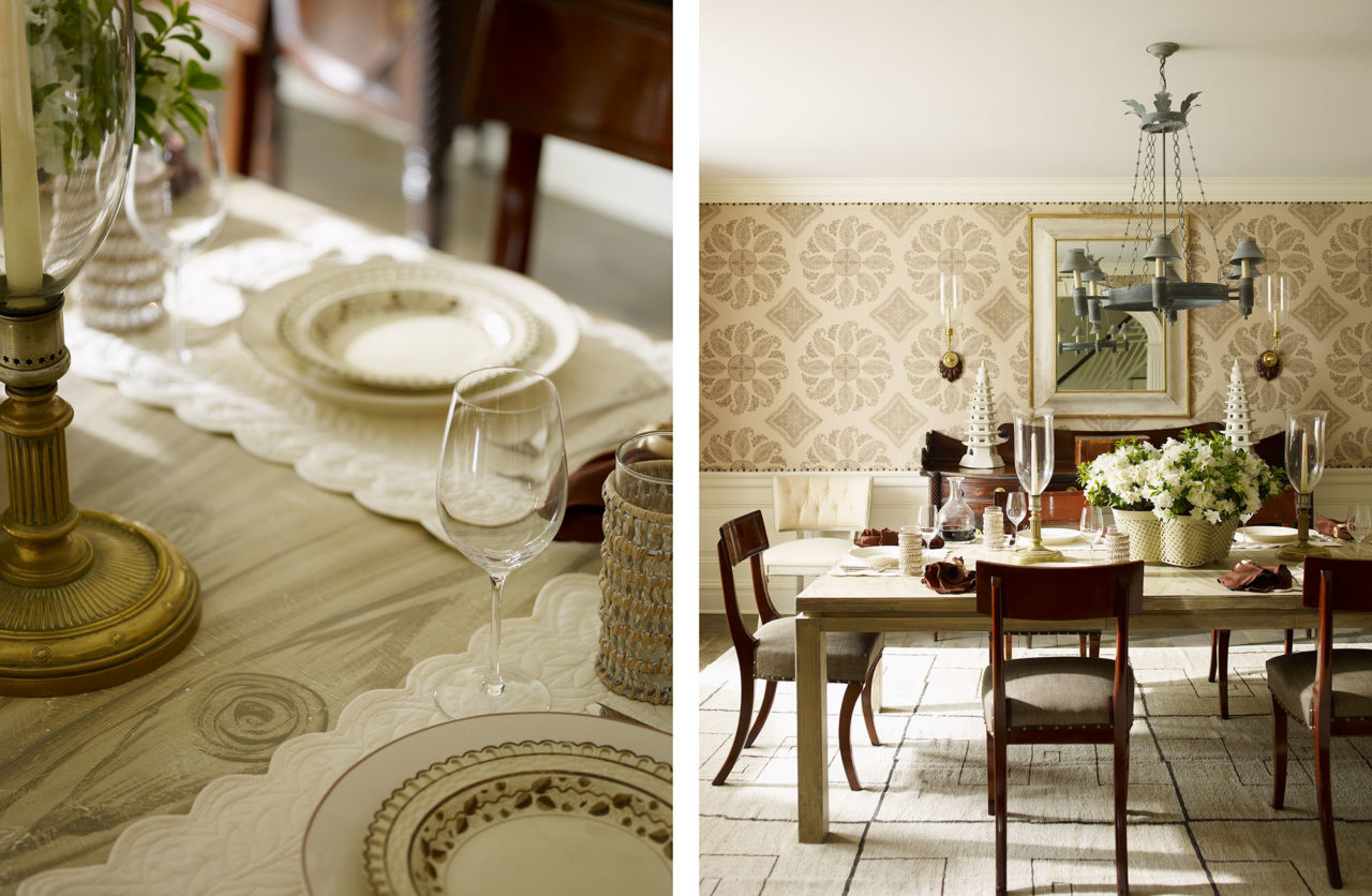 James Michael Howard Dining Room Tablescape Hamptons The Glam Pad