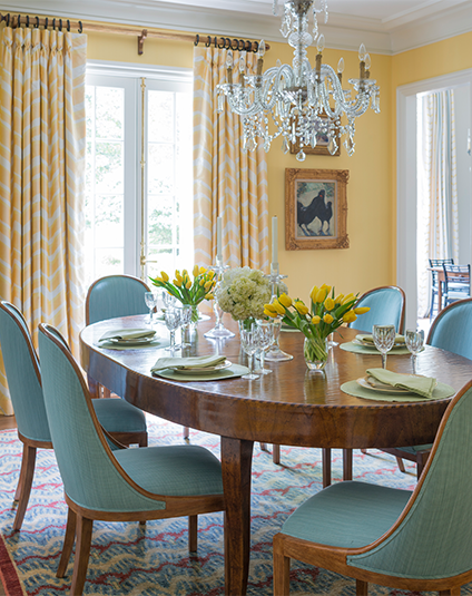 Yellow Dining Room The Glam Pad, Yellow Dining Room