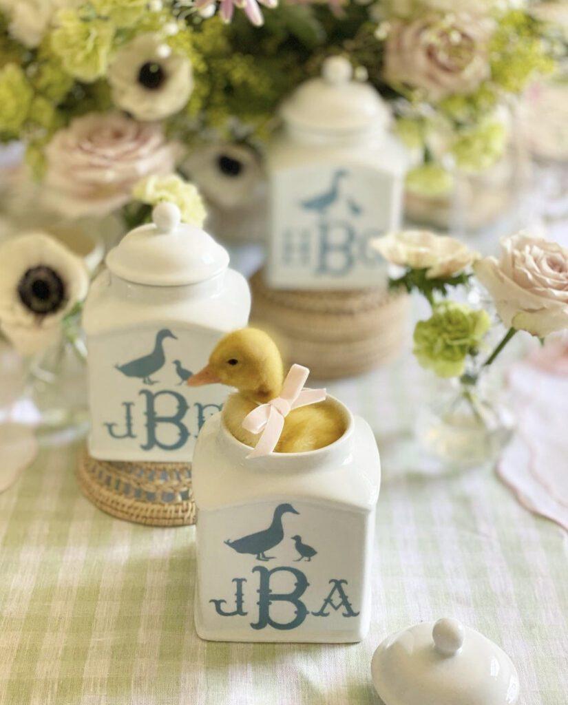 Jenny Bohannon, Tallwood Country House, duck, floral arrangement, tablescape