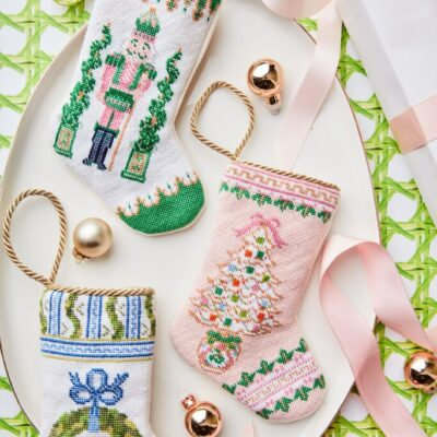 Giving Back with Needlepoint Bauble Stockings